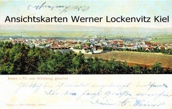 Ansichtskarte Artern Ortsansicht Blick vom Weinberg