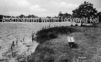 Ansichtskarte Balksee Wingst Cuxhaven mit LPStpl. Bargkamp