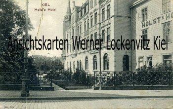 Ansichtskarte Kiel Holsts Hotel Schloßgarten