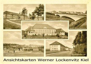 Ansichtskarte Bergen Truppenübungsplatz Lazarett Hauptwache Seeckt und Mackensenbrücke Hoppenstedter Strasse