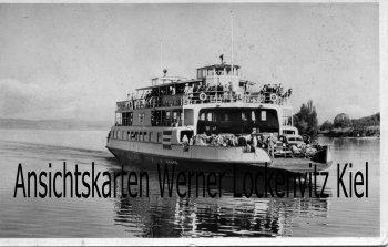 Ansichtskarte Auto- und Personenfähre Meersburg Bodensee- Konstanz
