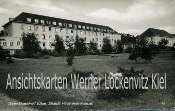 Ansichtskarte Geesthacht Städtisches Krankenhaus