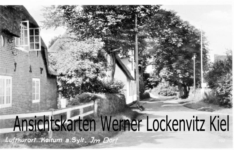 Ansichtskarte Keitum auf Sylt Im Dorf
