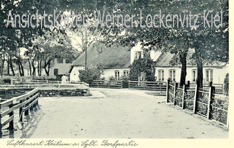 Ansichtskarte Keitum auf Sylt Dorfpartie