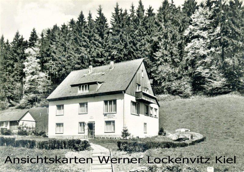 Ansichtskarte Herzberg-Lonau am Harz Pension Hildegard