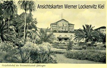 Ansichtskarte Göttingen Hauptbahnhof und Anlagen mit Palmen