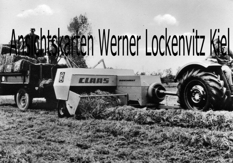 Ansichtskarte CLAAS-DOMINANT Hochdruckpresse Landmaschine Werbekarte