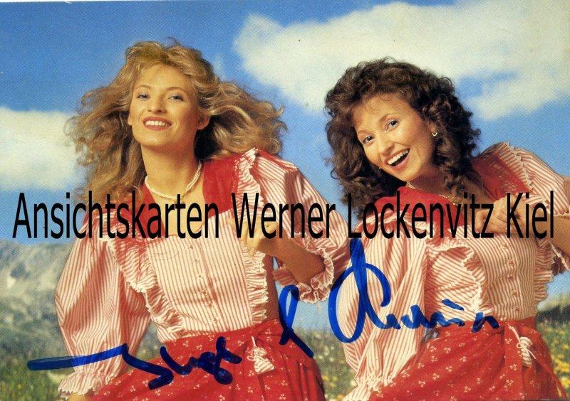 Ansichtskarte Österreich Inge und Maria Gesangsduo Autogrammkarte