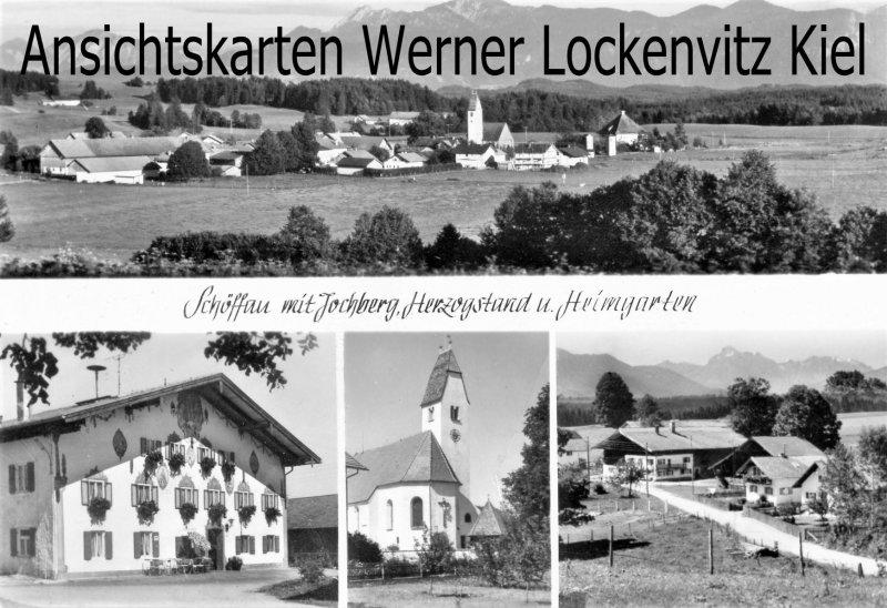 Ansichtskarte Uffing am Staffelsee Schöffau Gasthaus zum Alten Wirt Ortsansicht