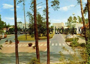 Ansichtskarte Espelkamp Breslauer Straße mit Bussen