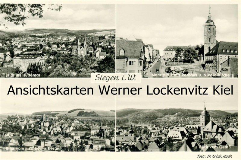 Ansichtskarte Siegen Marktplatz Hüttental Ortsansichten