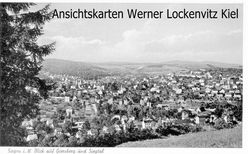 Ansichtskarte Siegen Blick auf Giersberg und Siegtal