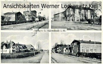 Ansichtskarte Bevern bei Barmstedt Ortsansichten und Mühlenbetrieb von E. Hachmann