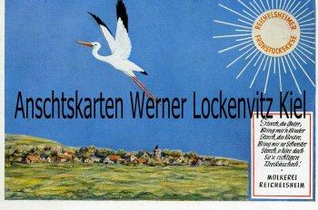Ansichtskarte Reichelsheim im Odenwald Molkerei Storch Werbekarte