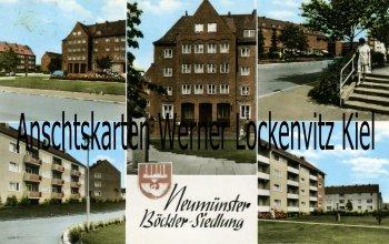 Ansichtskarte Neumünster Böckler-Siedlung Straßenansichten