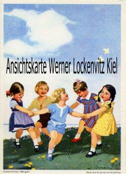 Ansichtskarte Indanthren-Reigen Werbekarte sign. W. Jüttner