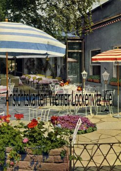 Ansichtskarte Ettlingen Terrasse von Hotel Erbprinz