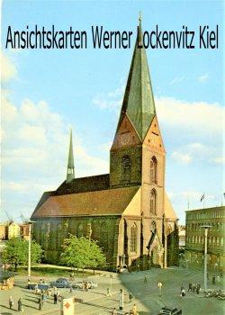 Ansichtskarte Kiel Markt und Nicolaikirche