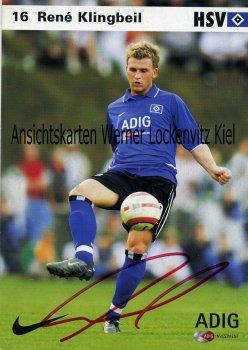 Ansichtskarte Rene Klingbeil HSV Fußball Bundesliga
