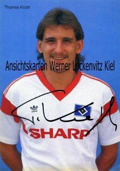 Ansichtskarte Thomas Kroth HSV Fußball Bundesliga