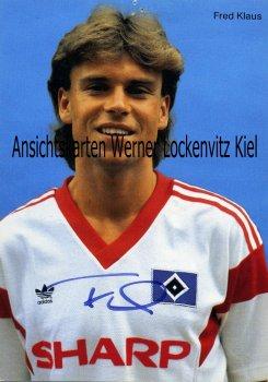 Ansichtskarte Fred Klaus HSV Fußball Bundesliga