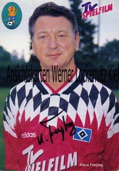 Ansichtskarte Klaus Freytag Zeugwart HSV Fußball Bundesliga