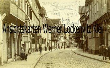 Ansichtskarte Quedlinburg Straßenansicht