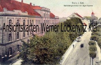 Oels Oleśnica Wartenbergerstrase mit Jäger-Kaserne