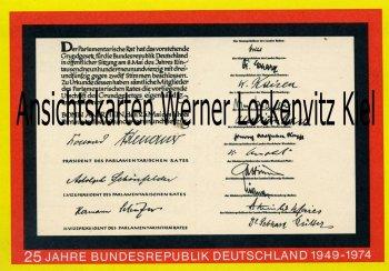Ganzsache 25 Jahre Bundesrepublik Deutschland