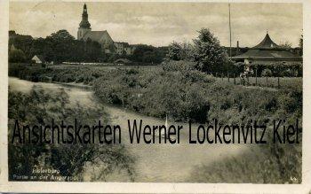 Ansichtskarte Insterburg Tschernjachowsk Partie an der Angerapp mit Kirche