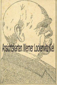 Ansichtskarte Fürst Bismarck Portrait gebildet aus 1650 Wörtern