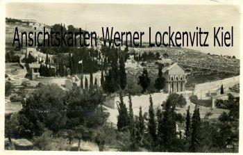 Ansichtskarte Israel Jerusalem Oelberg mit Garten Gethsemane