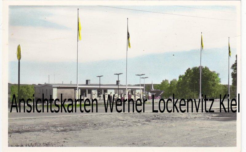 Ansichtskarte Vykorten Schweden Sverige Örkelljunga Motell Bensinstation Tankstelle Bes. Birger Olsson