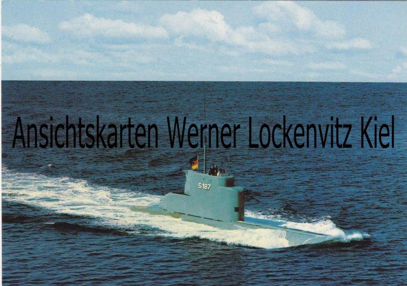 Ansichtskarte U-Boot Klasse U 8 S 187 Bundeswehr Schiffe Marine