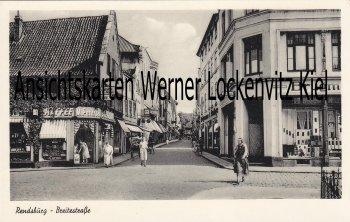 Ansichtskarte Rendsburg Breitestraße