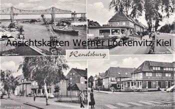 Ansichtskarte Rendsburg Flensburger Straße