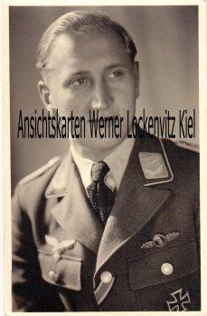 Soldat Luftwaffe mit Abzeichen Frontflugspange für Aufklärer Fotokarte