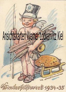 Ansichtskarte Winterhilfswerk WHW 1934-35 Amor sign. H. Stockmann Ganzsache