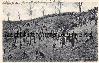 Ansichtskarte Bautzen Eierschieben Osterbrauch der Kinder am Proitschenberg
