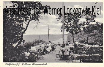 Ansichtskarte Rostock-Warnemünde Wilhelmshöh Stoltera Terrasse Bes. P. Holtfreter