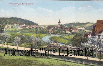 Ansichtskarte Roßwein-Niederstriegis Ortsansicht