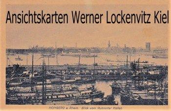 Ansichtskarte Duisburg-Homberg Blick vom Ruhrorter Hafen Feldpost Belgien