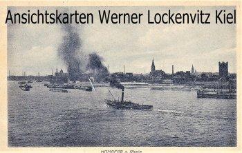 Ansichtskarte Duisburg-Homberg Hafen Feldpost Belgien