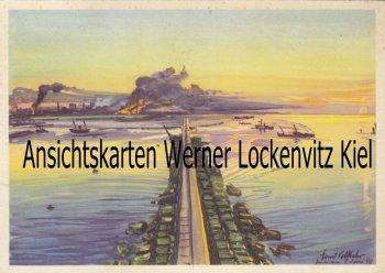 Ansichtskarte Dünkirchen Trauerschleier über Frankreich von Ernst Vollbehr Westfront Bild 16