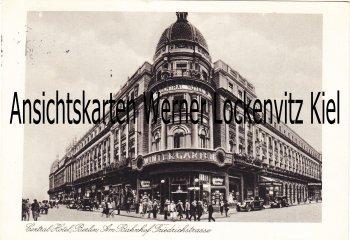 Ansichtskarte Berlin Central-Hotel am Bahnhof Friedrichstrasse