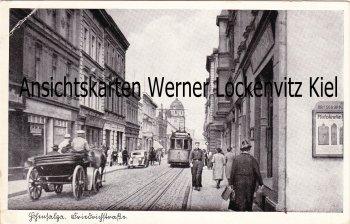 Ansichtskarte Polen Posen Hohensalza Inowrocław Friedrichstraße mit Straßenbahn