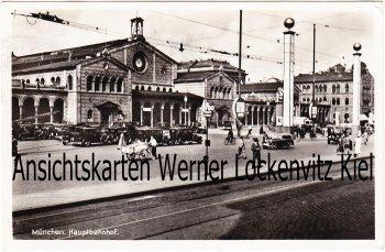 Ansichtskarte Hauptbahnhof in München