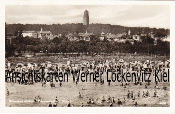 Ansichtskarte Ahlbeck Prinzenstraße und Strand