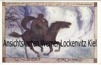 Ansichtskarte Schubert Erlkönig Liedkarte
