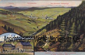 Ansichtskarte Oberwiesenthal Gasthof Neues Haus